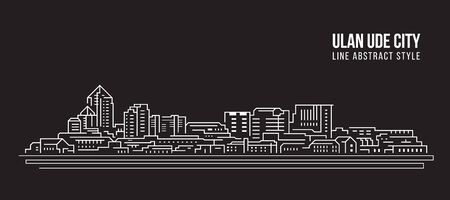 Cityscape Building Line art - Ulan-Ude city