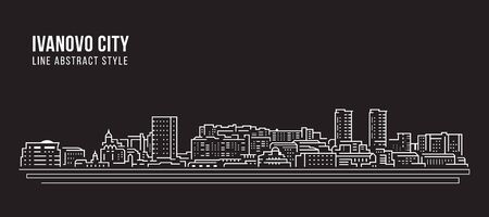 Cityscape Building Line art Vector Illustration design - Ivanovo city