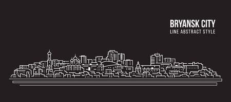 Cityscape Building Line art Vector Illustration design - Bryansk city