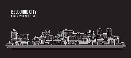 Cityscape Building Line art Vector Illustration design - Belgorod city