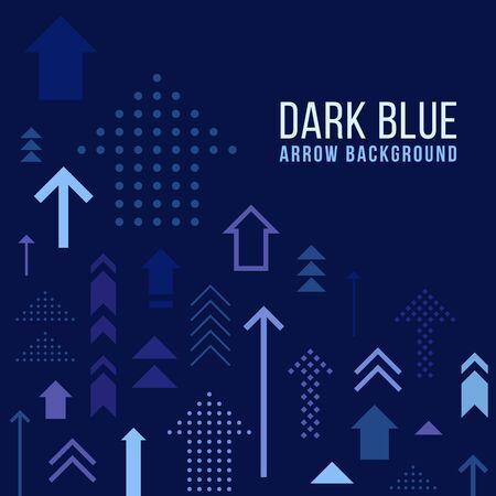 Dark blue abstract arrow background vector design Ilustração