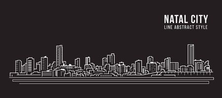 Cityscape Building panorama Line art