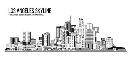 Cityscape Building Simple architecture modern abstract style art Vector Illustration design -  Los Angeles city 일러스트