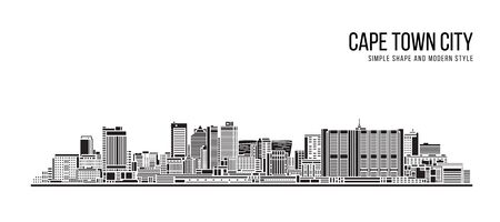 Cityscape Building Abstract Simple shape and modern style art Vector design - Cape town city