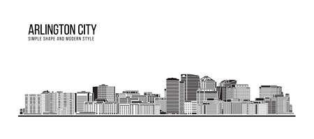Cityscape Building Abstract Simple shape and modern style art Vector design -  Arlington city
