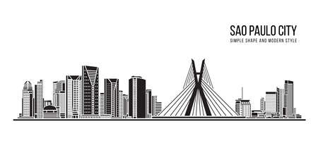 Cityscape Building Abstract shape and modern style art Vector design -  Sao paulo city (brazil)