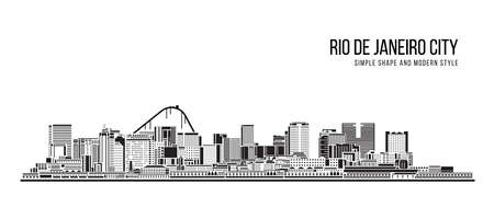 Cityscape Building Abstract shape and modern style art Vector design -  Rio de janeiro city (brazil)