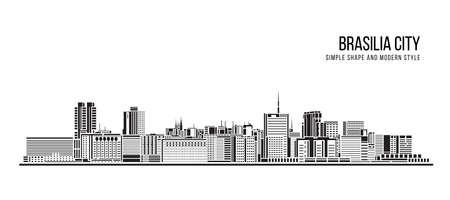 Cityscape Building Abstract shape and modern style art Vector design -   Brasillia city 矢量图像