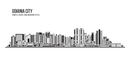 Cityscape Building Abstract shape and modern style art Vector design -  Goiania city (brazil) 矢量图像