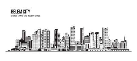 Cityscape Building Abstract shape and modern style art Vector design -   Belem city (Brazil) 免版税图像 - 155363264