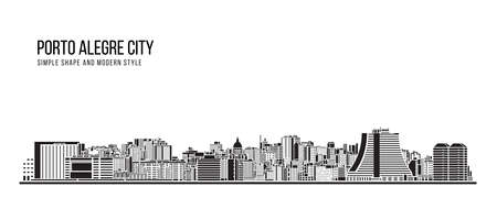Cityscape Building Abstract shape and modern style art Vector design -   Porto Alegre city