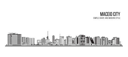 Cityscape Building Abstract shape and modern style art Vector design -  Maceio city 免版税图像 - 155954487