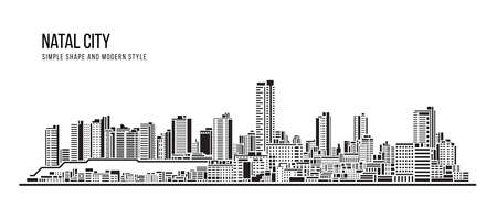 Cityscape Building Abstract shape and modern style art Vector design -  Natal city 免版税图像 - 156259604