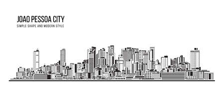 Cityscape Building Abstract shape and modern style art Vector design -  Joao Pessoa city