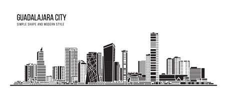 Cityscape Building Abstract shape and modern style art Vector design -  Guadalajara city 免版税图像 - 156545920