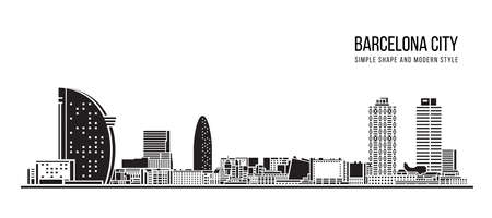Cityscape Building Abstract shape and modern style art Vector design -  Barcelona city
