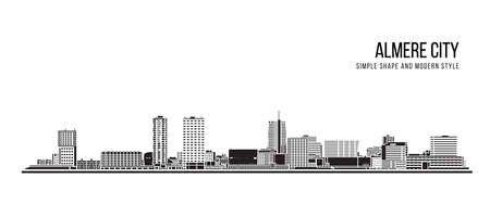 Cityscape Building Abstract shape and modern style art Vector design -  Almere city