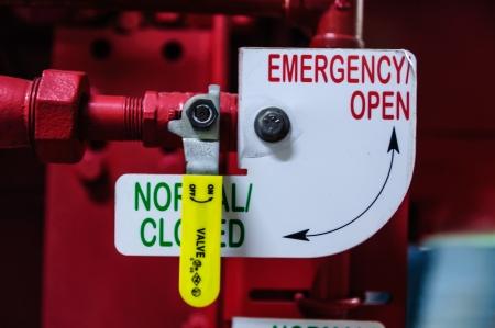 消火ポンプの緊急のケースを使用して緊急弁 写真素材
