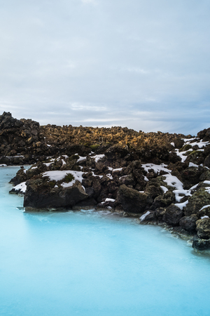The Blue Lagoon geothermal spa is one of the most visited attractions in Iceland, which is fed by the water output of the nearby geothermal power plant. Blue Lagoon is famous outdoor in world class spa.
