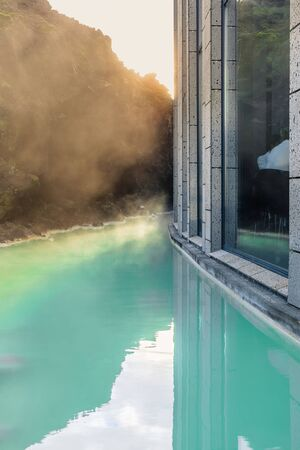 The Blue Lagoon geothermal spa is a world class spa. One of the most visited attractions in Iceland.