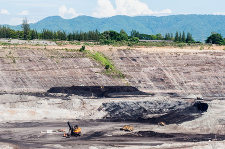 Coal Mining industry used the mining machinery equipment extracting coal ores from the ground. Open-pit mine or surface mining extract coal to used for heavy industrial in Thermal Power Plant.