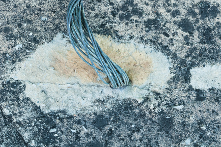 Electrical Grounding with Electric copper cable equipment and system to isolate the electricity power to the ground. Electrical grounding help safety work and protect danger of electric power.