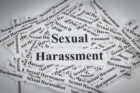 Sexual harassment Standard-Bild
