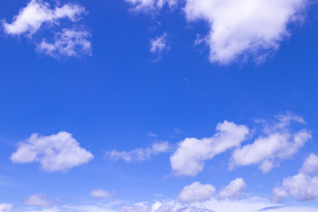 The blue sky of early summer