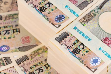 Wadagi Japanese yen 10,000 yen bill 스톡 콘텐츠