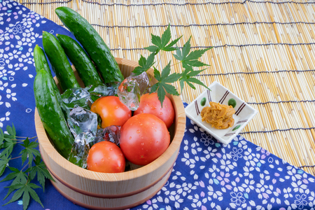 Chilled summer vegetables