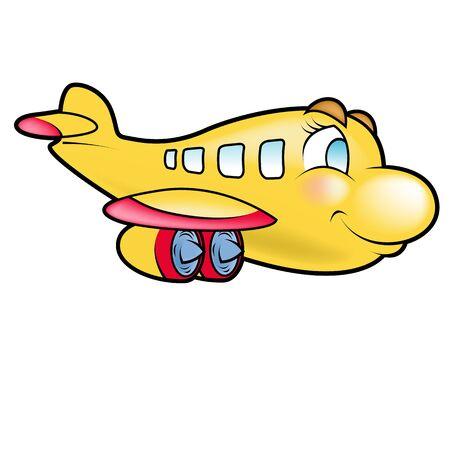 Illustration of a cute plane