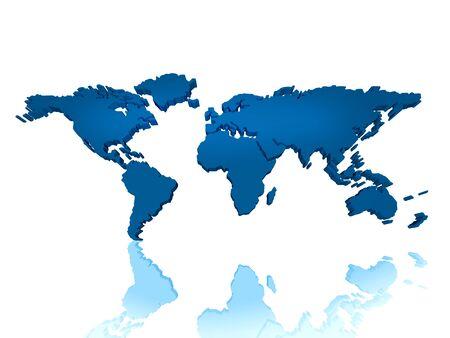 regional: Se trata de un mapa del mundo 3d regional de continental. se puede utilizar para desarrollar el concepto global de ideas relacionadas