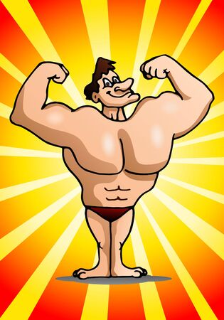 unoccupied: illustration of a healthy muscle man show of