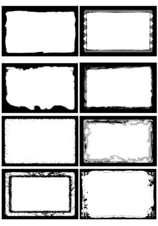 Ilustración del marco de fotos establecido 18 puede insertar su imagen Foto de archivo - 88392126