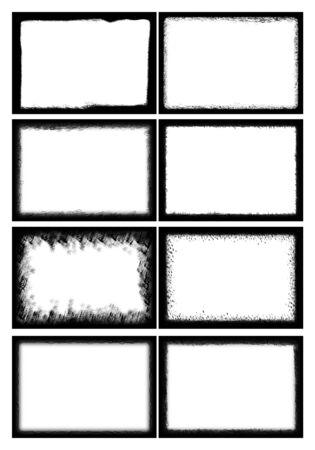 Ilustración del marco de fotos establecido 13 puede insertar su imagen Foto de archivo - 88392134