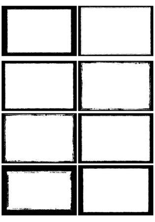 Ilustración del marco de foto set 07 puede insertar su imagen Foto de archivo - 88392142
