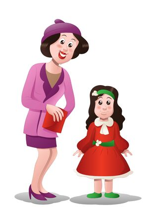 niños vistiendose: shopping mom buying dress for her daughter