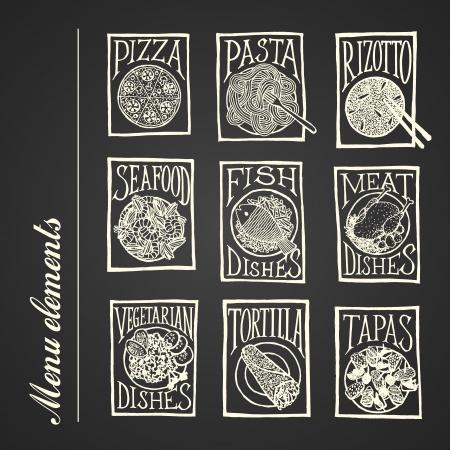 Menu elements - dish