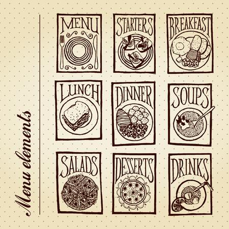starter: Menu elements - meals