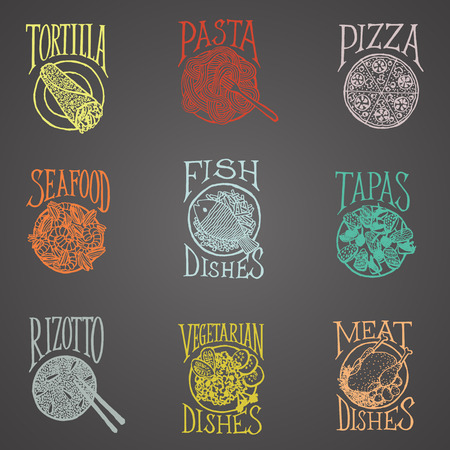 blackboard:  MENU ICON - Dishes blackboard