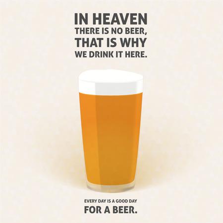 cerveza negra: Ilustración de una cerveza lager para un diario relajarse con Irlanda frase tostadas Fondo suave con el patrón de triángulos