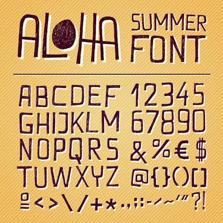 lettre s: ALOHA SIMPLEMENT Hand ETABLI pour les affiches saisonniers ou autres ouvrages sur fond jaune mill�sime