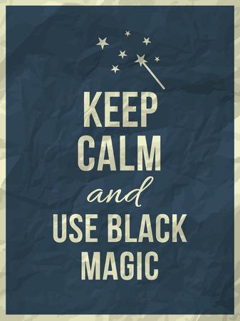 textura papel: Mantener la calma y utilizar cotizaci�n magia negro en la textura de colores de papel arrugado con el marco