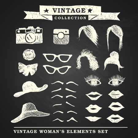 Vintage retro woman Vector