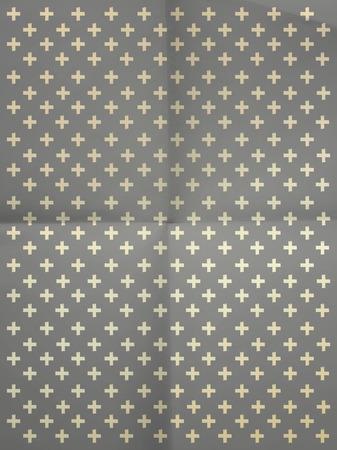 textura papel: Papel de regalo gris de la vendimia con las cruces en textura de papel arrugado