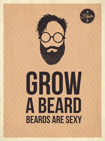 regard: Cru citations look � la mode hippie, pousser la barbe