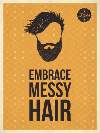decoration messy: Hipster vintage trendy look quotes, Embrace messy hair