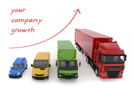 Concept transportation service growth background