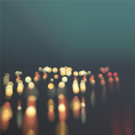hosszú expozíció: autópálya absztrakt háttér autó fények pontokat és vihar színes ég Bokeh hatást, blur, gradiens illusztráció