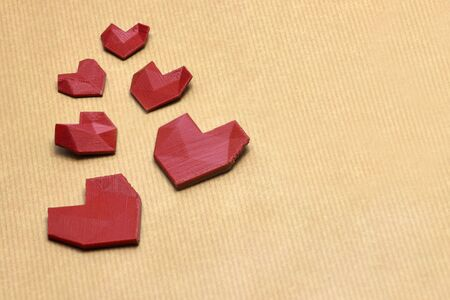 tell stories: 3d printed red heart\
